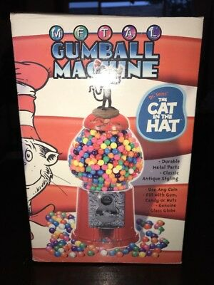 Comic Image Dr Seuss The Cat In The Hat Metal Gumball Machine NIB