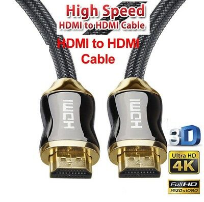 Premium HDMI Cable Ultra HD Audio Gold Plated HighSpeed 1m~ 5m V2.0 3D 4K AUS SL