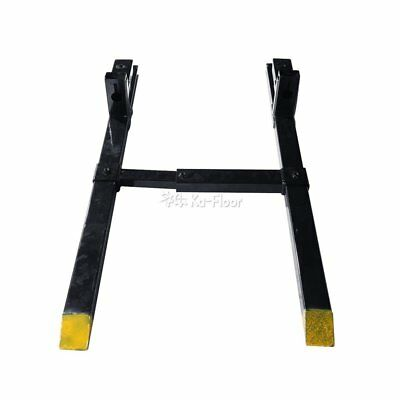 1500 LBS Clamp on Pallet Forks Loader Bucket Tractor Chain w/ Stabilizer Bar