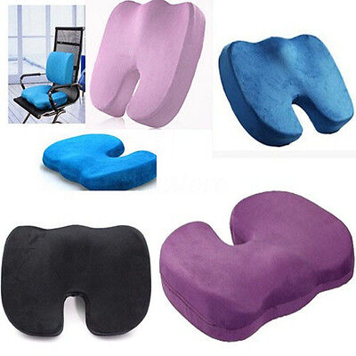 Memory Foam Seat Cushion Office Chair Coccyx Back Pain Relief Orthopedic Pillow