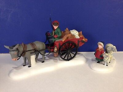 SALE Dept 56 Dickens Village BRINGING FLEECES TO THE MILL w/ box Combine Ship