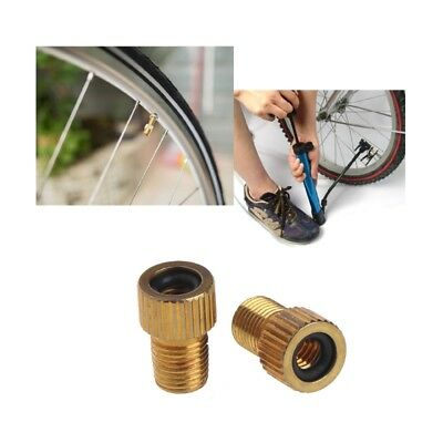 2pcs Copper Presta To Schrader Bicycle Cycle Pump Tube Valve Adapter Converter