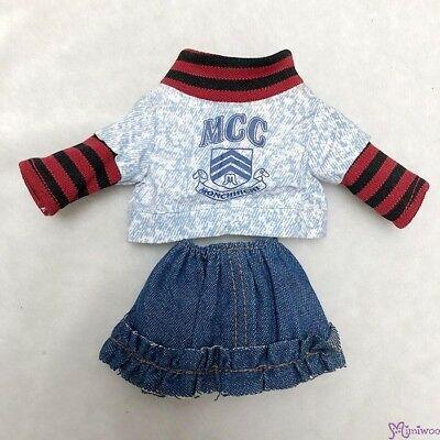Sekiguchi Monchhichi S Size School Wear Fashion Outfit Top & Jeans Skirt RT-40