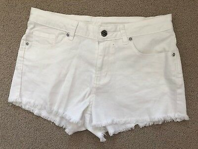 Seed teen White Denim Shorts  Size 14 (small)