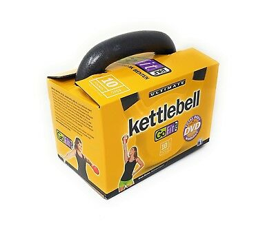 GoFit Balance Premium Vinyl getauchter Kettle Ball mit Trainings DVD 10 Pfund