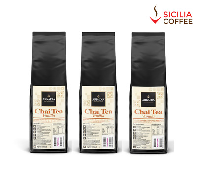 3kg Arkadia *** VANILLA *** Chai Latte Powder Drink Cafe Use Tea Sicilia Coffee