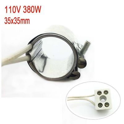 1Pcs 110V 380W Injected Mould Heating Element Band Heater 35x35mm Stainless NEW
