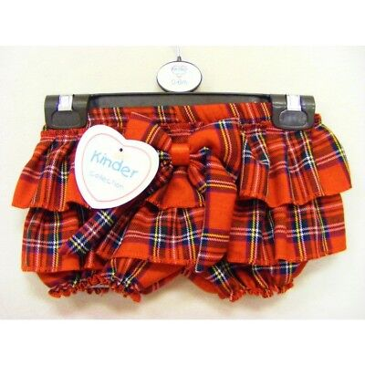 Kinder Spanish Style Romany Red Royal Stewart Tartan Bow Jam Pants Shorts AW18