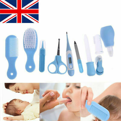 Kids Baby Infant Nail Hair Health Care 10pcs Set Grooming Thermometer Brush Kit