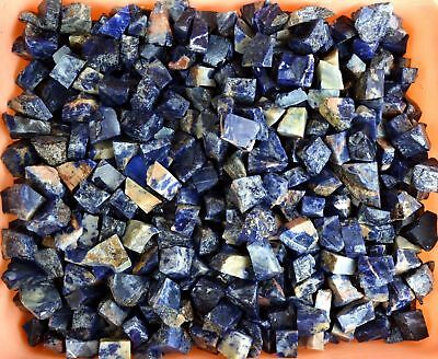 Dark Blue Sodalite Gemstone Rough Lot Namibian 5000 Carat Natural Untreated
