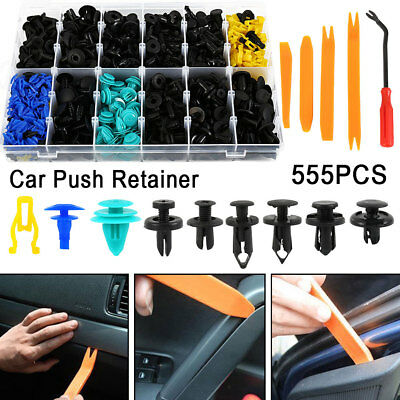 555XCar Body Trim Clips Retainer Bumper Rivets Screws Panel Push Fastener Kit