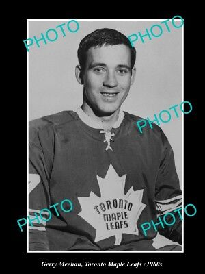 Large Old Historic Photo Of Ice Hockey Great Gerry Meeham, Toronto Maple Leafs
