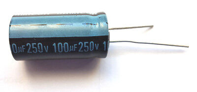 100UF 250V 105c JamiconTK Series High Reliability Size 31.5mmx16mm