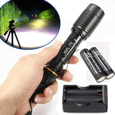 Tactical UltraFire Waterproof Zoom Focus T6 Flashlight Torch Bicycle Light Lamp