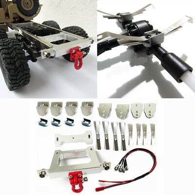 Metal Chassis Upgrade Modified Rear Bumper DIY For WPL B14 B24 B16 1/16 RC Car Y