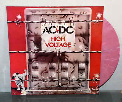 AC/DC High Voltage Reissue Vinyl Record LP Pink Splatter Color Wax Rare Highway
