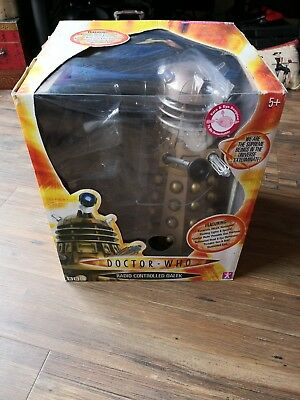 Dr Doctor Who Radio Controlled Dalek Bronze. Talking Lights Movement. Free Post
