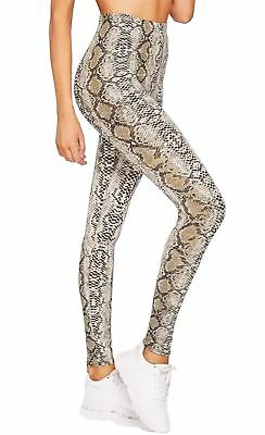 Womens Snake Print High Waist Leggings Ladies Stretchy Elasticated Casual Pants