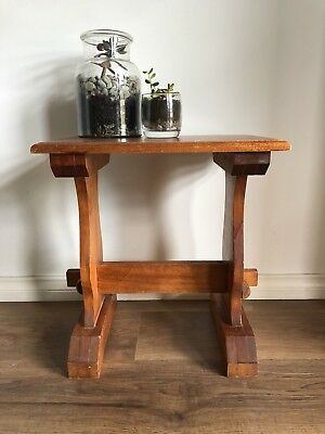 Vintage Rustic Handmade Handcrafted Arts & Craft Shaker Foot Stool Low Table