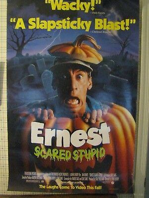 ERNEST SCARED STUPID video poster 1991 27 X 40 HORROR COMEDY