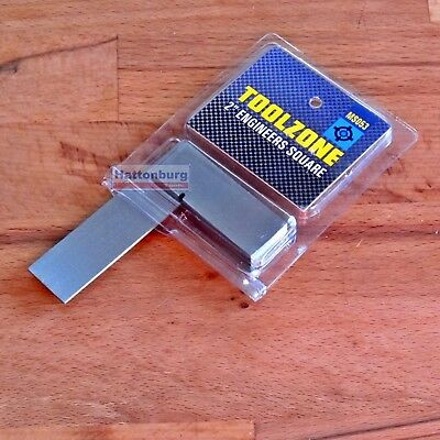 """2"""" 50mm Engineers Set Square Small Precision Setsquare Quality Steel"""