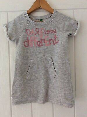 Girls Grey United Colors Of Benetton Dress Size 2 Years
