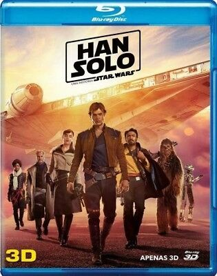 Blu-ray Solo: A Star Wars Story 3D region free sealed 7.1 audio Disney