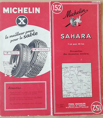 Carte Michelin n°152 Sahara 1958