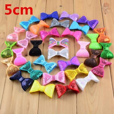 Embroidery Sequin Hairband Bows For Girls Kids Toddler Hear-wear Accessories New