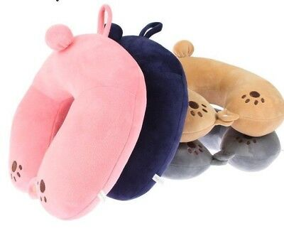 Travel Neck Cotton Pillows Filling Micro-bead Foam Particles Shaped Accessories