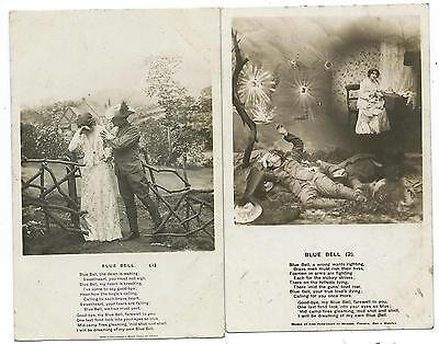BLUE BELL -Two 1908 BAMFORTH R.P. Song Card Postcards (no's 1 & 2)