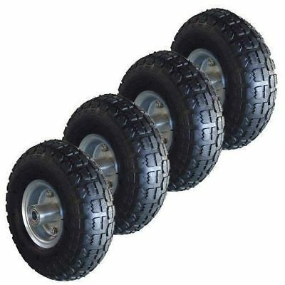 "4 x 10"" Pneumatic Sack Truck Trolley Wheel Barrow Tyre Tyres Replacement"