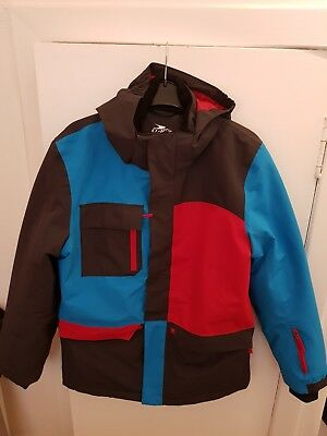 Girls ski jacket by Crane size 13to14yrs in blue red and deep maroon