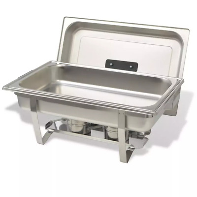 8.5L Pan Chafing Dish Set Stainless Steel Party Cater Food Warmer Fuel