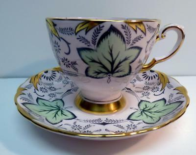 Tuscan The English Bone China Footed Cup&Saucer  682H Gold Trim England Vintage