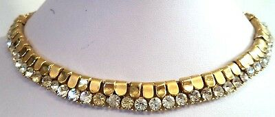 "*rare* Stunning Vintage Estate Signed Trifari Rhinestone 16 1/8"" Necklace! G197A"
