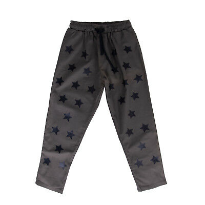 FALORMA Trousers Size 12Y Coated Stars Drawstring Waist Made in Italy