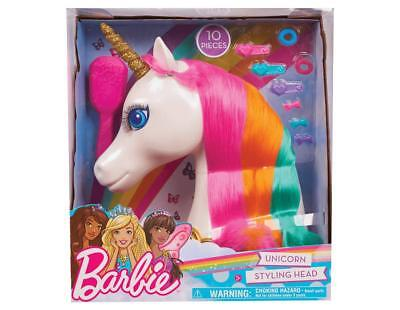 Official Barbie Dreamtopia Unicorn Styling Head 10 Piece Toy Playset