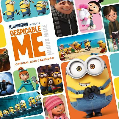 Official 2019 Despicable Me Calendar Square Minions Wall Hanging Gift Present