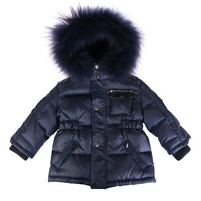REFRIGIWEAR Down Quilted Jacket Size 9M Detachable Hood Removable Raccoon Fur