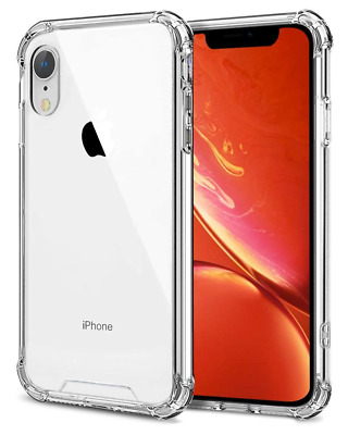 Slim Shockproof Protective TPU Bumper Case Cover Clear Transparent For iPhone XR