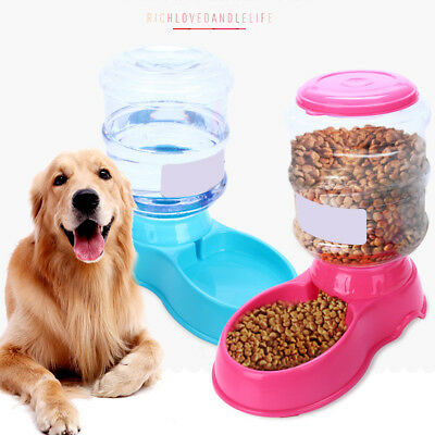 Large Automatic Pet Food Drink Dispenser For Dog Cat Feeder Water Bowl Dish EG