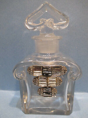 Vintage Guerlain Baccarat Perfume Bottle Made In Paris France Numbered Empty