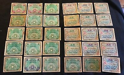 Lot 30 WWII US Military Payment Certificates MPC French Japanese Series 1944 100