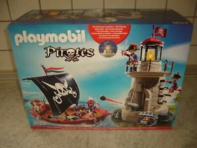Playmobil 9522 Piratenset Pirates, Schiff Soldatenturm mit Unterwassermotor Boot