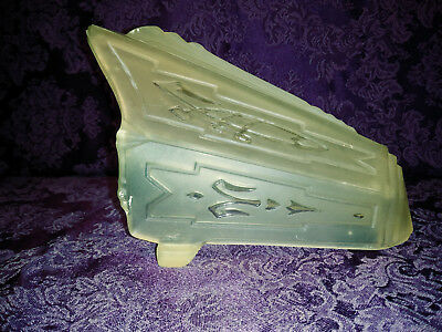 1 Art Deco Frosted Light Amber to Yellowish Glass Slip Shade #1