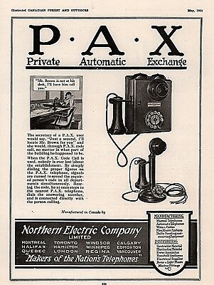 1924 C Ad  P A X Private Automatic Exchange Telephone Rotary Phone Code Call