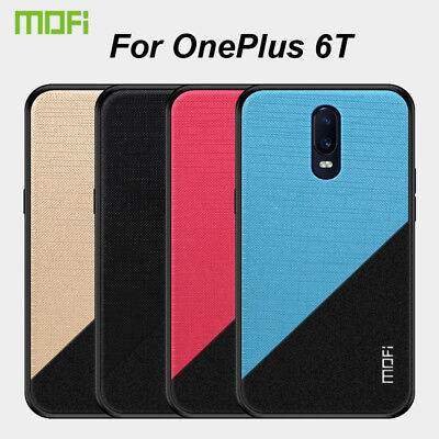 For OnePlus 6T MOFI Colth Fabric Full Package Premium Back Cover Skin Case
