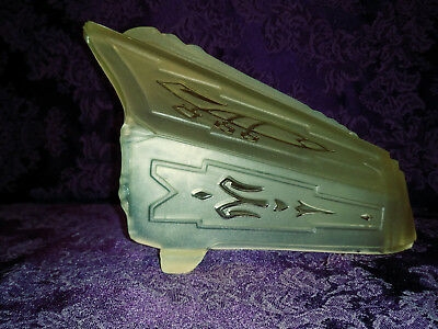 1 Art Deco Frosted Light Amber to Yellowish Glass Slip Shade #2