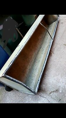 Large Vintage Galvanised cattle Water Trough / tank Planter 8ft long